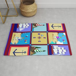 Another Nautical Quilt but with Compass Rose Rug