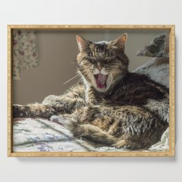 The laughing cat Serving Tray