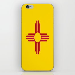 flag new mexico-usa,america,sun,Zia Sun symbol,New Mexican,Albuquerque,Las Cruces,santa fe,roswell iPhone Skin