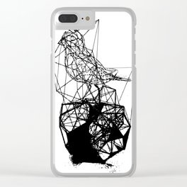 Bird line art Clear iPhone Case