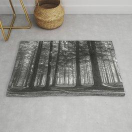 Black and white woods - North Kessock, Highlands, Scotland Rug
