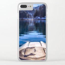 Kayaking in McCloud Northern California Clear iPhone Case