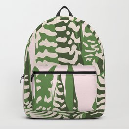 Desert Blossom - Pink and Green Succulent Backpack