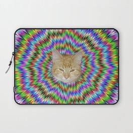 Dizzy Cat Abstract Laptop Sleeve