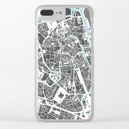 Ghent City Map I Clear iPhone Case