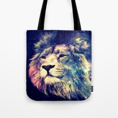 Galaxy Lion : Deep Pastels Tote Bag