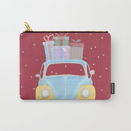 Vitange Car with Christmas Gifts on the roof Carry-All Pouch