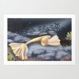 Sleeping Mermaid Art Print