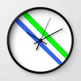Flag of sierra leone 3 -salone,Sierra Leonean,Leone,Sierra Leona,freetown. Wall Clock