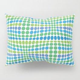 Dottywave - Green Blue wave dots pattern Pillow Sham