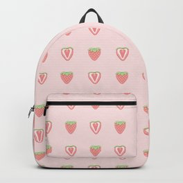 Half Strawberry Pattern Backpack