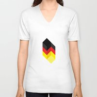 germany V-neck T-shirts featuring Germany by Dizzy Moments