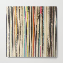 Record Collection Metal Print