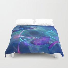 Butterflies and Light Swirls Abstract Duvet Cover