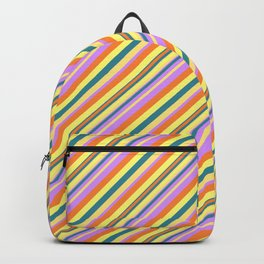 Bright Shine Inclined Stripes Backpack