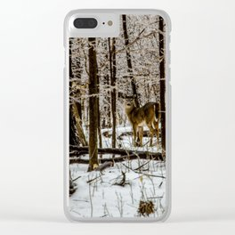 Deer in the Glistening Forest by Teresa Thompson Clear iPhone Case