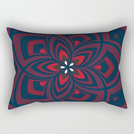 Spiral Rose Pattern C 1/4 Rectangular Pillow