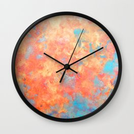 Summer Rain - Original Abstract Art by Vinn Wong Wall Clock