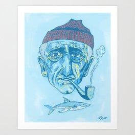 Cousteau. Art Print