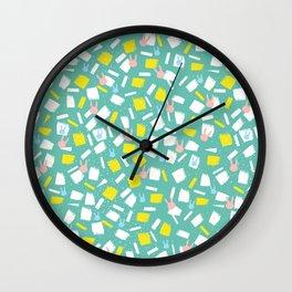 Rabbit Fun Pattern Wall Clock