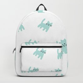 Cute mint hand drawn mouse pattern Backpack