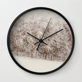 Snow Falling on Cedars Wall Clock
