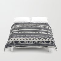 aztec Duvet Covers featuring aztec by spinL