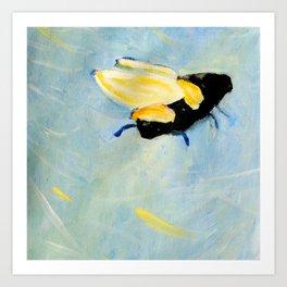 bee going up Art Print