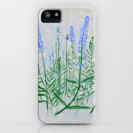 Lavender Plant Grows in the Garden iPhone Case