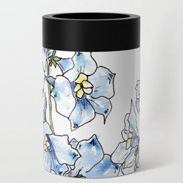 Blue Delphinium Flowers Can Cooler