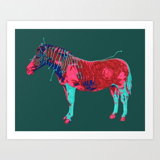 Electric Quagga Art Print