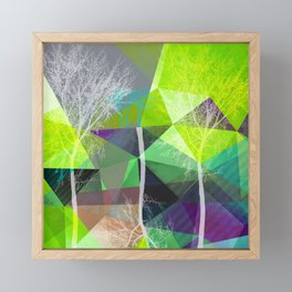 P18 Trees and Triangles Framed Mini Art Print