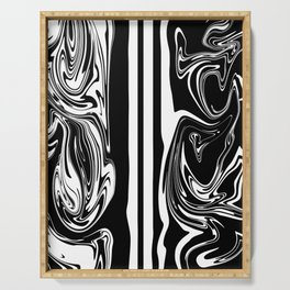 Stripes, distorted 5 Serving Tray