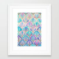 deco Framed Art Prints featuring Glamorous Twenties Art Deco Pastel Pattern by micklyn