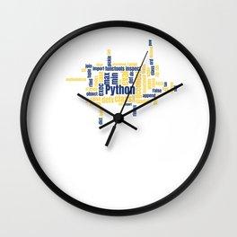 Python Wordcloud Classic Premium Wall Clock