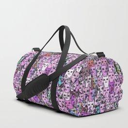 Pink Cat Crowd Duffle Bag
