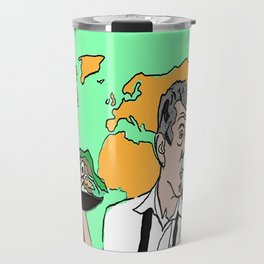The colorful life of Anthony Bourdain Travel Mug