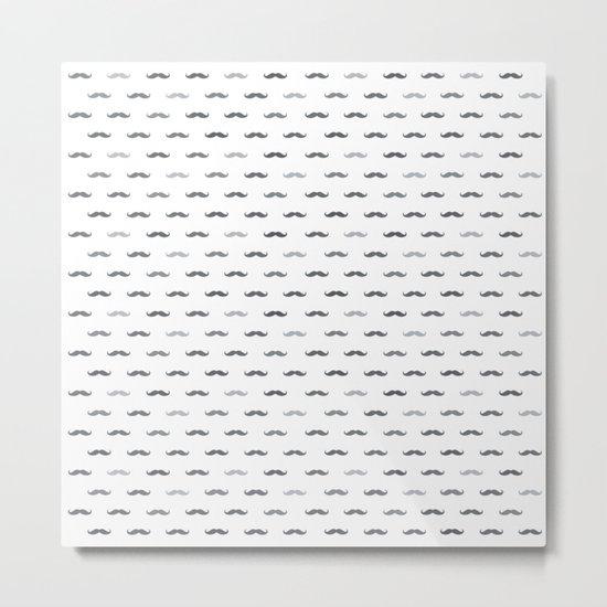 Grey Mustache Metal Print