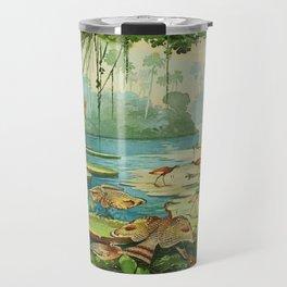 Amazonian birds by Göldi & Emil 1859-1917 Belem Brazil Colorful Tropical Birds Travel Mug