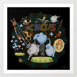 Circus Show Art Print