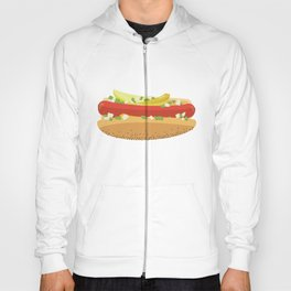 Flat Vector Chicago Dog Hoody