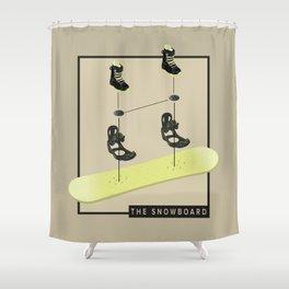 The Snowboard Shower Curtain