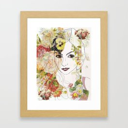 Lady of the Flowers  Framed Art Print