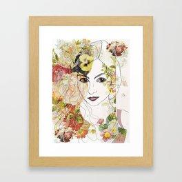 Lady of the Flowers  Framed Art Print