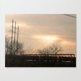 Light Train Canvas Print