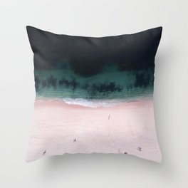 The purple umbrella Throw Pillow
