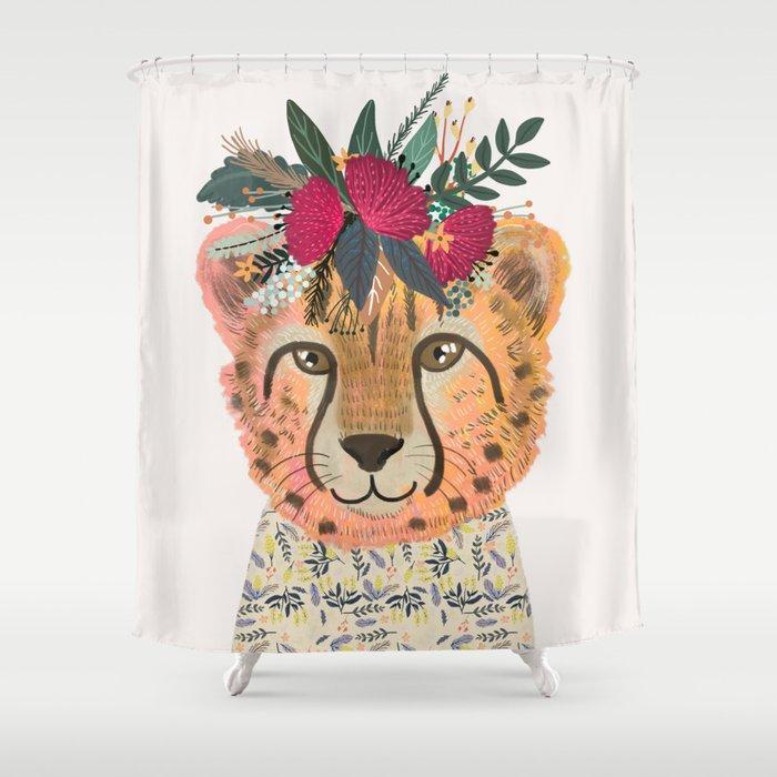 Cheetah Shower Curtain By Miacharro