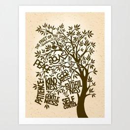 Fruit of the Spirit (Monotone) Art Print