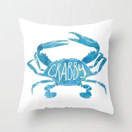 Crabby! Throw Pillow