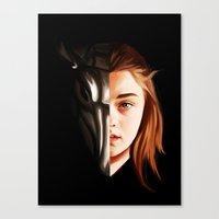 arya Canvas Prints featuring I Can be Your Family by Han Jihye